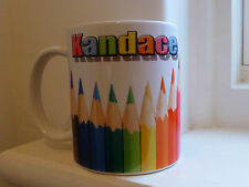 Personalised Name Mug Pencil Caddy great for offices, teachers and students.