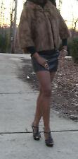 Elegant Swing Queen Collar Cropped brown Mink Fur bolero coat jacket S-8
