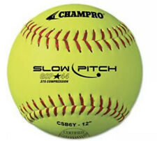 """Lot of 11 Champro Gsp44 Slow Pitch Softball 12"""" High Visibility Yellow 375/.44"""