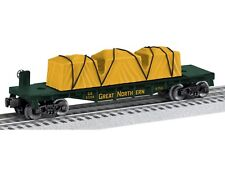 O Scale-LIONEL 6-81206 GREAT NORTHERN Flatcar # 81206 w/ Removable Load