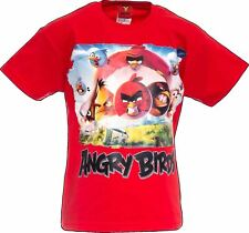 Angry Birds Official Angry Bird Kids T-Shirt Age 12-13 Years Youth Shirt Red