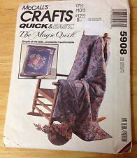 McCALL'S Crafts #5908  Quick & Easy Magic Quilt Pattern UNCUT