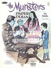 Vintage Reprint - 1966 - The Munsters Paper Doll Book - Reproduction & Smash-Up