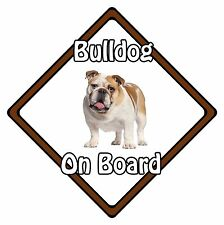Non Personalised Dog On Board Car Safety Sign - Bulldog On Board