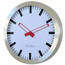 Invotis XL Station Clock Metal Wall Clock Round Analogue 61 x 61 cm