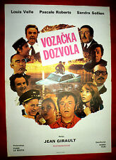 DRIVING LICENSE 1974 FRENCH LOUIS VELLE ROBERTS SOLLIEN CASTEL EXYU MOVIE POSTER