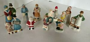 Vintage Accessories Christmas Village People Figures Lot2 Lot of 10