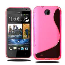 Línea S Wave Gel de silicona teléfono caso cubierta para HTC Desire 300 + Protector De Pantalla