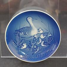 B&G Bing Grondahl Plate Porcelain Denmark Blue White Mother's Day 1973 Gy10