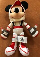Disney World Parks Red Astronaut Mickey Mouse Plush Space Mountain Mission Space