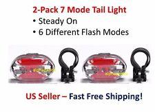 2-Pack LED Flashing Lamp Light Rear Cycling Bicycle Bike Tail Safety Warning