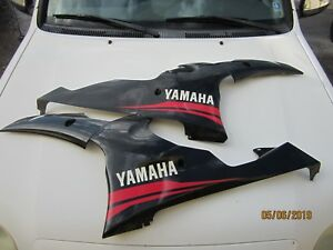 Yamaha R6 13s-28395-00 Right & Left  Middle Fairing Combo  06 07 08 09 10 11 12