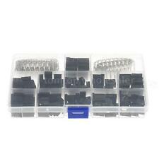 420pcs Wire Jumper Pin Header Connector Housing Kit Female/Male Crimp Pins S1O2