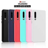 COVER per Huawei P30 / Lite / Pro CUSTODIA TPU OPACA SILICONE Morbida Slim Case