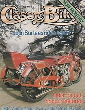 Indian Scout Sidecar Brough Superior Douglas Racer Ambassador 7/81 Classic Bike