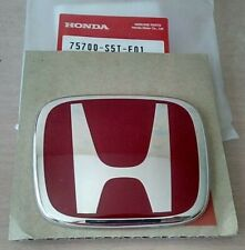 Genuine Honda Red Emblem 75700-S5T-E01 OEM Type R