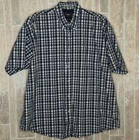 Wrangler Medium Men's Shirt Blue Plaid Button Down Front Pocket XL