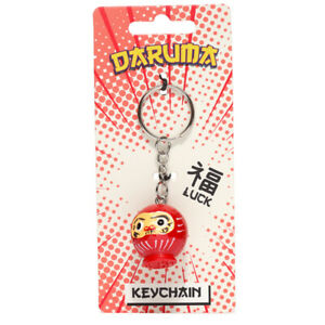 Novelty Collectable  Luck red Japanese Daruma Doll Keyring