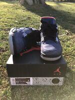 100% Authentic Jordan 4 Winterized Loyal Blue Mens Size 10.5 Lightly Used