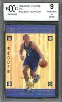 Dirk Nowitzki Rookie Card 1998-99 Ud Encore F/X #122 Dallas Mavericks BGS BCCG 9