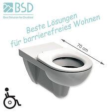 Wand WC verlängert rollstuhlgerecht, barrierefrei 70 cm + WC-Sitz mit �–ffnung