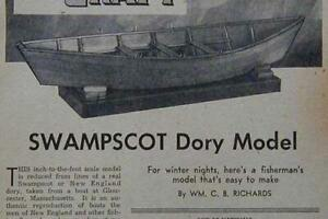 Dory Model * Swampscot* HowTo build 1947 PLANS Lifeboat