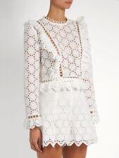 BNWT ZIMMERMANN divinity wheel shorts white crochet lace high waisted waist 0