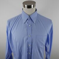 Nordstrom Mens Non Iron Traditional Fit LS Button Up Light Blue Dress Shirt 16.5