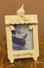 Department 56 Super Birthday Snowbabies Creamy White Picture Photo Frame Gifts