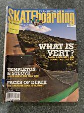 Transworld Skateboarding Magazine August 2008 Danny Way