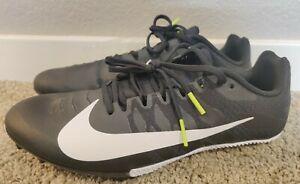 Men's Nike Zoom Rival S 9 Track Spike Size 8.5 Black/White