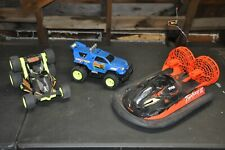 Vintage Lot of 3 RC Cars Boat Parts or Repair Remote Control Vehicle Toy TYCO