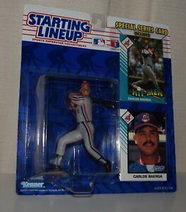1993 STARTING LINEUP 68099 -CARLOS BAERGA*CLEVELAND INDIANS 3- MLB SLU 2 CARDS