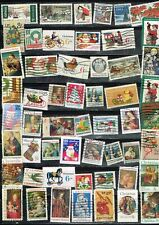 (11-500) 50+ Assorted Cancelled  US Christmas Season  Postage sTamps