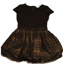 MICHAEL KORS Black/Plaid Taffeta Skirt Bubble Dress Size: 8