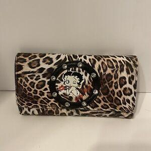 betty boop leopard print wallet