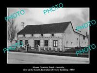 OLD LARGE HISTORIC PHOTO OF MOUNT GAMBIER SA, THE SOUTH AUSTRALIAN BREWERY c1880