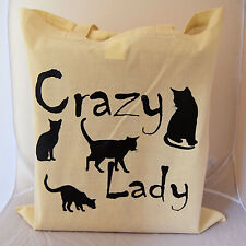 Tote Bag for crazy cat lady perfect gift idea for any lady