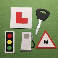Cars Traffic Lights Fuel Pumps Key Driver Learner Test Pass Birthday die cuts