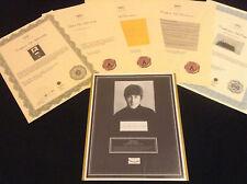 Authentic John Lennon BEATLES Original HairLock w Vintage Photo Rare Signed COA