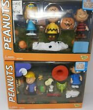 """Two Peanuts """"It's the Great Pumpkin Charlile Brown"""" Figure Collections in box"""