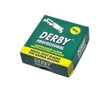 DERBY PROFESSIONAL PREMIUM SINGLE EDGE RAZOR BLADES BARBER STRAIGHT THROAT CUT U