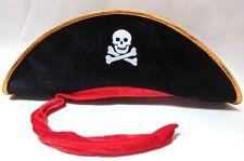 Pirate Hat Captain Cap Skull Crossbones Costume Dress Up Pretend Play Halloween