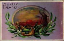 (v82) Postcard: New Years Greetings