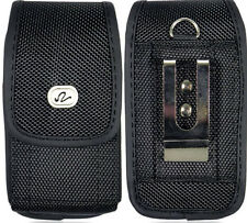 Alcatel Go Flip V Vertical Phone Case Pouch Belt Loop Belt Clip Black