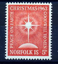 NORFOLK ISLAND 1963 CHRISTMAS SG50 IMPRINT BLOCK OF 4 MNH