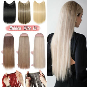 Elegant Straight Secret Halo Wire in Hair Extensions No Clip In One PCS Straight