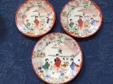 "set of three Japanese ""Geisha� plates"