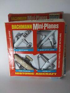 Vintage Bachmann Mini-Planes World War I (4) Aircraft Original Box