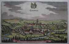 Krembs Münster - Kremsmünster - Merian - Originale Stadtansicht von 1649